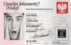 Zastrzeżenie dokumentów - MIG DZ
